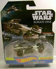 PARTISAN X-WING FIGHTER CAR STAR WARS CARSHIPS DISNEY HOT WHEELS DIECAST 2016