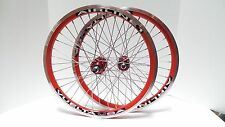 "New 20"" Vuelta Airline 1 BMX Wheelset Single Speed Sealed Bearing Red/SS"