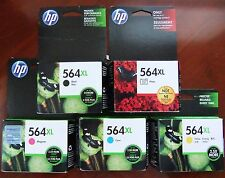 5-Pack HP Genuine 564XL Black Color & Photo Ink Retail Box PhotoSmart 6520 7525