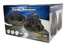 "Power Acoustik BAMF Series BAMF-152 3800 Watt 15"" Dual 2 Ohm Car Audio Subwoofer"