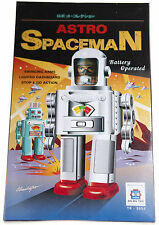 Astro Spaceman Tin Toy Robot Tinplate HaHa Toy Lights and Walks 28cm high 10 ""