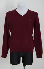 MENS GANT JUMPERS SWEATER 100 % LAMBSWOOL BURGUNDY SIZE M MEDIUM EXCELLENT