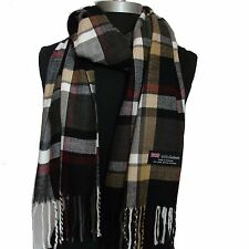 New 100% Cashmere Scarf Multi-Color check Plaid Scotland Wool Soft Unisex(#Cm6mr
