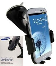 100% Genuine Samsung Galaxy S7 Edge & S7 S6 Vehicle Car Dock Holder Cradle Black