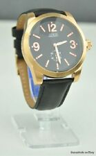 NWT Watch GUESS Black Leather Men Authentic New U12010G1