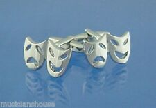 Theatre Mask Comedy Tragedy Actor Actress Opera CUFFLINKS Present GIFT Box