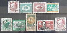 DDR Briefmarken 1960 Lenin,Eisenbahn,Chemiearbeiter,Schach Olympiade,Dresd.Kunst