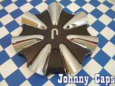 Niche Wheels Chrome/Carbon-Fiber Center Caps #10573 Custom Wheel Cap (413) (1)