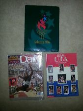 Lot of 2 OLYMPICS 92 Dream Team Book 1996 Carl Lewis SPORTS ILLUSTRATED DAILY