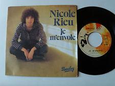 """NICOLE RIEU: Je m'envole / Ils sont partis de la ville 7"""" 45T 1976 BARCLAY 62258"""