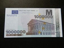 €1,000,000 1 million euro novelty banknote bill novelty Europe millionaire NEW