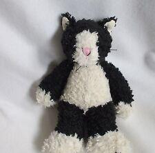 """First & Main Black Cream Cat Catnip Plush Soft Toy Stuffed 1002A 12"""""""