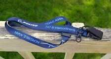 Boeing 747-8 Intercontinental Premiere Incredible Again Key Card Lanyard Blue