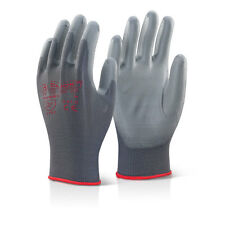 10 Pairs Click 2000 PUG PU Coated Precison Gloves GREY Colour Large