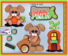 BUNNY PATCH title premade scrapbook pages spring 3D paper piecing EASTER DIE CUT
