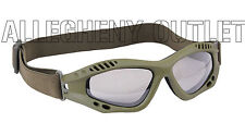 Ventec Olive Drab Tactical Goggles Lightweight  Anti-Fog  Shatterproof Lens NEW