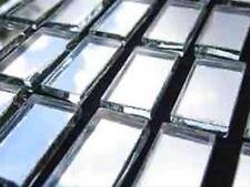 100 Pack 10 x 20 mm 3mm spessore di Vetro Mosaico Argento Specchio Piastrelle