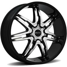 ONYX 904 26 x 9.5 BLACK RIMS WHEELS TOYOTA SEQUOIA 08-up 5H +25