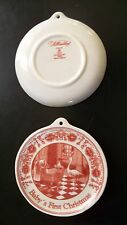 Colonial Williamsburg Royal Goedewaagen Delft Babys 1st Christmas Red Ornament