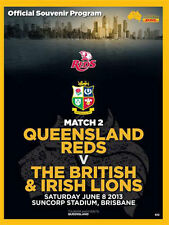 Queensland Reds / British & Irish Lions 5 Jun 2013 Rugby programa Perfecto