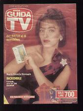 GUIDA TV MONDADORI 43/1988 MARIA ROSARIA OMAGGIO PROGRAMMI TV LOCALI MONTECARLO