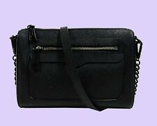 REBECCA MINKOFF 'AVERY' Black Saffiano Leather X-Body Bag Msrp $175