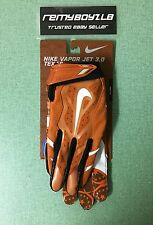 Nike Vapor Jet 3.0 Texas Longhorns Football Gloves Adult Medium Knit Elite Fly