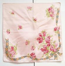 Burberrys Mini Scarf Pocket Square Handkerchief Handbag Tie Nova Check Pink