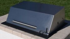 """EasyChef Charcoal Counter Top Grill 24"""" w/Black Steel Hood (Island Not Included)"""