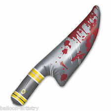 """23"""" Halloween Horror Chop Shop BLOODY KNIFE Inflatable Prop Decoration"""
