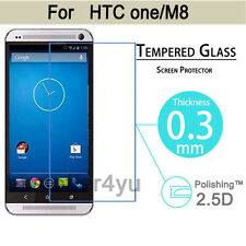 Premium Tempered Glass Film Cover Guard Screen Protector For HTC One M8