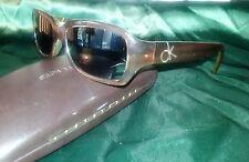 Unisex Calvin Klein Brown Frame Optical Lenses Sun Glasses