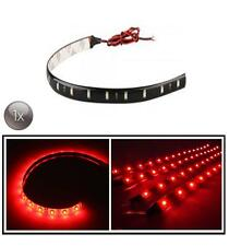 1X ROSSO 30 CM 12 LED SMD 3528 STRISCE RUNNING DRL AUTO CASA LUCE IMPERMEABILE