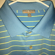 EUC MENS PETER MILLAR SUMMER COMFORT SPANDEX POLY S/S GOLF ATHLETIC SHIRT XL