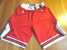 NEW ADIDAS NBA CHICAGO BULLS SWINGMAN RED GAME SHORTS SIZE M jersey