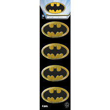 set of 4 Metal Sticker Batman dark knight gold car auto cell i phone emblem