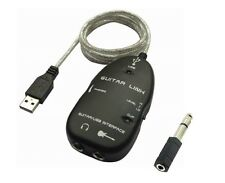 Guitar Link Interface to USB Cable and Free a 1/4-Inch / 3.5mm Adapter for Pc
