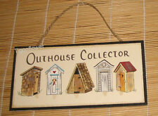 Wood Sign Plaque Decor Country Primitive Outhouse Collector