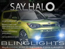 Halo Fog Lamps Angel Eye Driving Lights Kit Set Pair for 2014 2015 Kia Soul