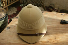 BRITISH ARMY COLONIAL ZULU WAR REPRO SAND TROPICAL SAFARI SUN PITH HAT HELMET