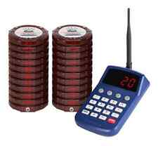 Brand New 20 Digital Red Restaurant Coaster Pagers *Complete Paging System*
