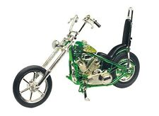 Diecast 1:18 Iron Chopper Green Motorcycle MotorMax Model Die Cast Bike M431F