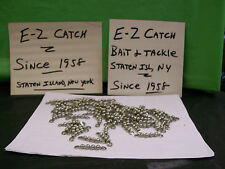 Bead Chain Fishing Swivels Stainless Steel 165 lb. Test Lot of 77 pieces 1-3/4""