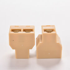 Double DZ517 RJ45 Ethernet cable LAN Port 1 to 2 Socket Splitter Connector MW