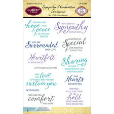 """JustRite Papercraft Clear Stamps 4""""X6""""-Sympathy Handwritten Sentiments"""