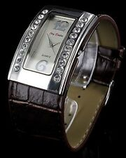 Jay Baxter Retro Strass Armbanduhr Kroko Leder Damenuhr analog Women Watch