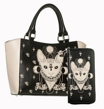 Banned Apparel Bastet Egyptian Cat Siamese Sphynx Small Tote Bag & Wallet SET