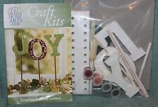 JOY Wooden Letters to PAINT Decorate CENTERPIECE Craft Kit Creative Home Arts