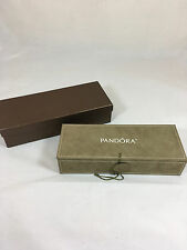 NWOT Retired Pandora 3 Tier Jewelry/Travel Box Case in Taupe/Tan Suede