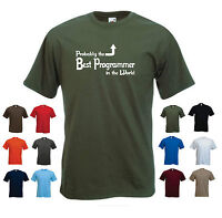 'Probably the Best Programmer in the World' Funny Computer Web Coding T-shirt